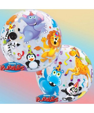 ballon single bubble  animaux de la jungle