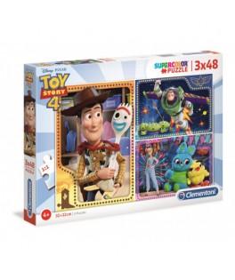 3 Puzzles Toy Story 4  48 Pièces - CLEMENTONI