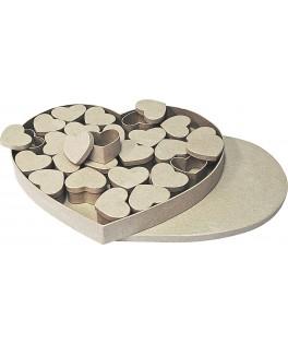Boîte coeur papier mâché