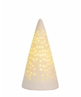 Mini sapins lumineux LED ajouré en porcelaine