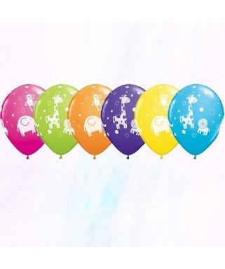Ballons Animaux de la Jungle x6