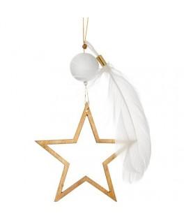 Étoile dorée à suspendre