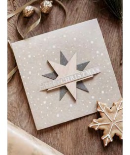Carte guirlande de fanions Happy Christmas