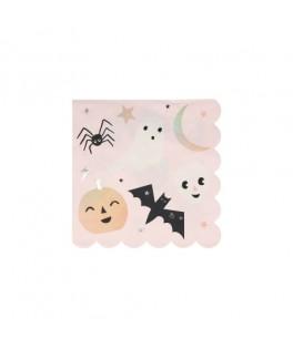 8 Petites serviettes Funky Halloween