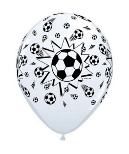 6 Ballons latex Football