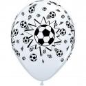 6 Ballons latex Football