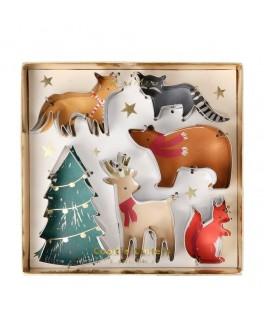 6 emporte-pièces animaux de la forêt - Noël