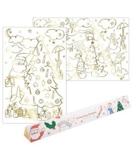 Set de 2 posters Noël à colorier