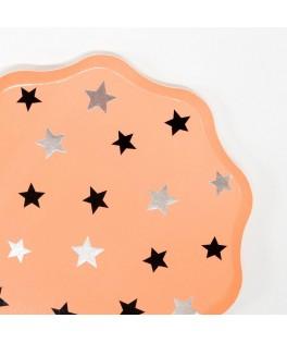 8 Grandes assiettes étoiles Halloween