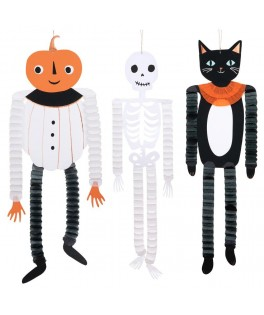 3 Suspensions Halloween en papier