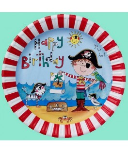 assiettes anniversaire pirate