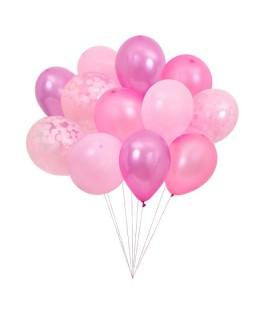Bouquet de 12 ballons roses