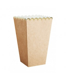 8 Boîtes à popcorn kraft & Or