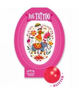 Tatouage éphémère Big Tattoo - Rose India