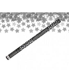 Canon à confettis Etoile Argent - XL