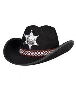 Chapeau Sheriff enfant noir