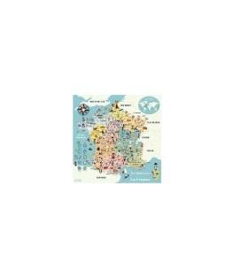 Carte de France magnétique Ingela P.Arrhenius - VILAC