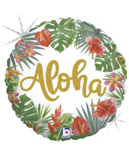Ballon métallisé Aloha
