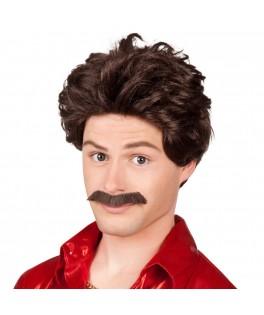 Perruque Lucien avec moustache