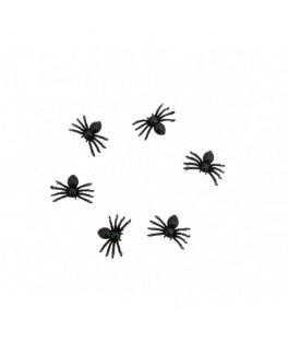 Sachet de 18 araignées noires
