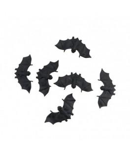 Lot de 6 chauve-souris plastique