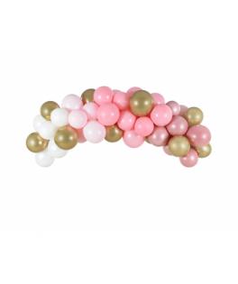 Kit Arche de ballons Rose/Or