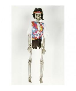 Suspension squelette Hippie Zombie