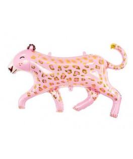 Ballon Leopard métallisé