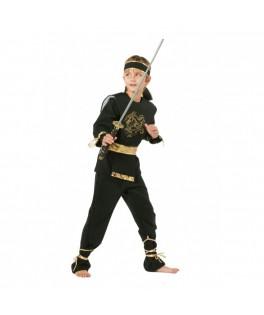 Déguisement Ninja Garçon doré