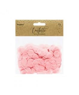 Confettis en papier rose