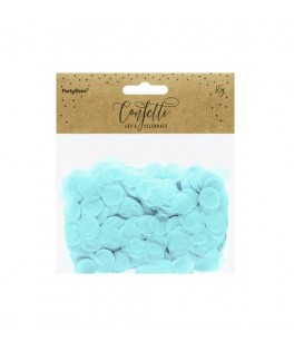 Confettis en papier bleu