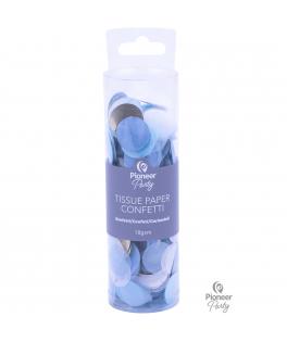Confettis de table papier de soie bleu/blanc