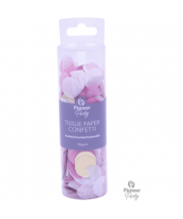Confettis de table papier de soie rose/blanc