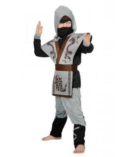 Déguisement Ninja gris