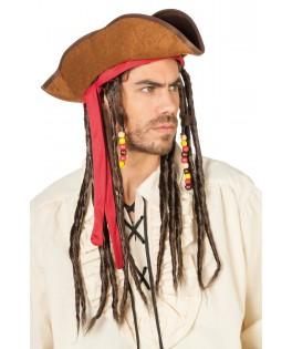 chapeau jake le pirate dreadlocks homme
