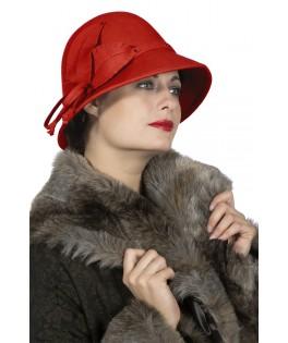 Chapeau dame rouge Roaring 20's