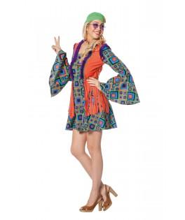 Déguisement Robe courte Hippie Peace & Love
