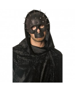Demi-masque squelette avec clou