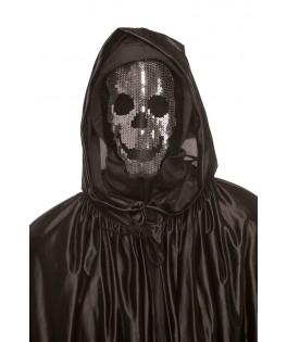 Masque Tête de mort avec strass