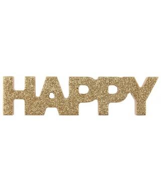lettres dorees happy