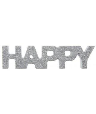 lettres argent happy