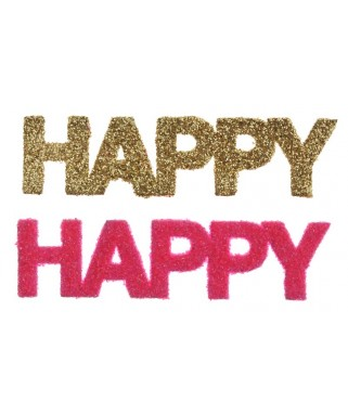confettis de table Happy paillettes fuschia