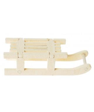 4 Petites luges ivoire