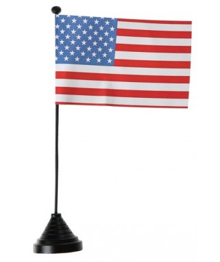 drapeau de table etats unis