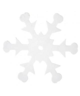 confettis de table flocon de neige blanc
