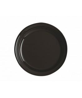 assiettes rondes chocolat