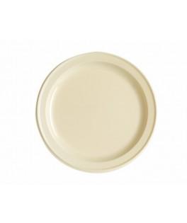 assiettes rondes ivoire