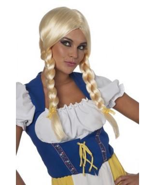 perruque bavaroise longues nattes blondes