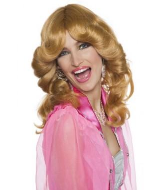 longue perruque blonde cuivree