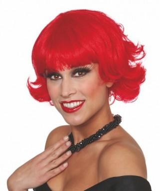 perruque fashion courte rouge femme